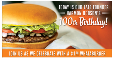 photograph relating to Whataburger Printable Coupons identified as Things 4 Yall: Whataburger: $1 Whataburger in opposition to 5-8pm 10-8-13