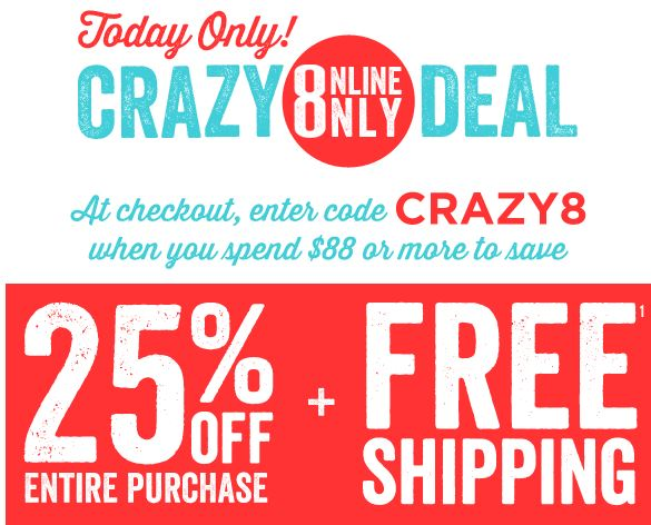 Crazy 8 coupons free shipping