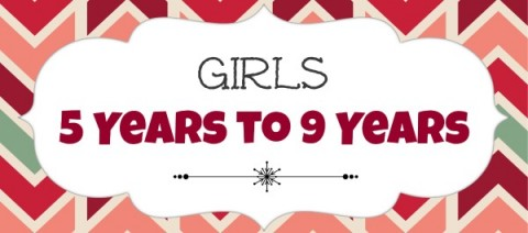 Girls 5 to 9 years