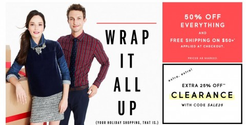 photo about J Crew Factory Printable Coupons referred to as J.Staff Manufacturing facility: 50% off Sitewide, No cost Delivery upon $50+