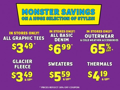 Children s place monster sale up to 75 off free shipping 30 off