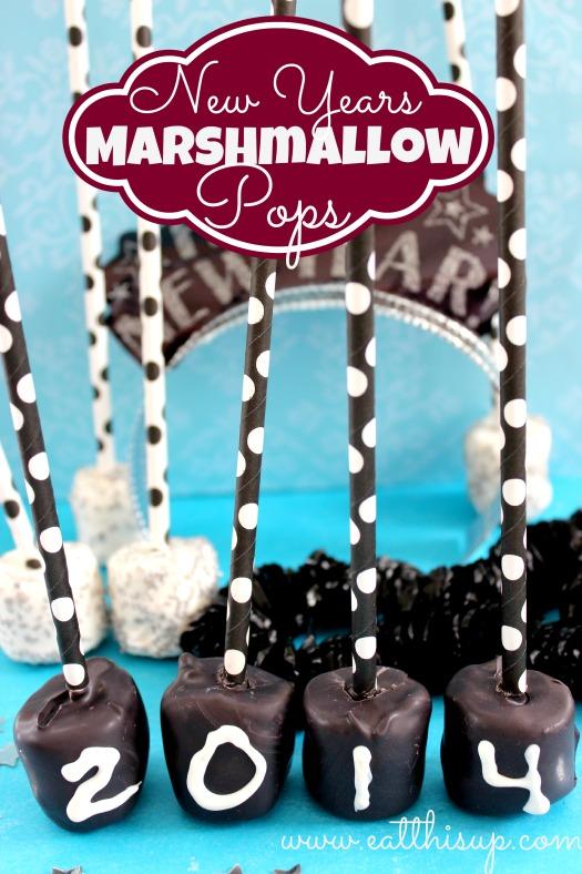 Marshmallow Pops New Years Treat