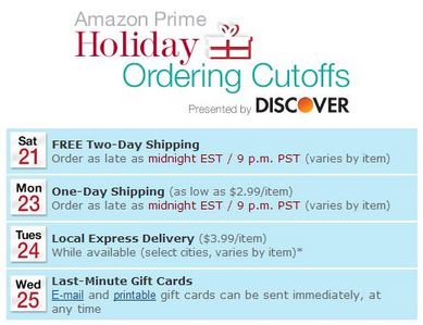 Shipping Deadlines for Christmas Delivery