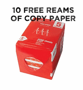 10 Free Reams Of Copy Paper This Week At Staples Mylitter One