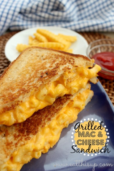 Grilled Mac and Cheese Sandwich Recipe - MyLitter - One Deal At A Time