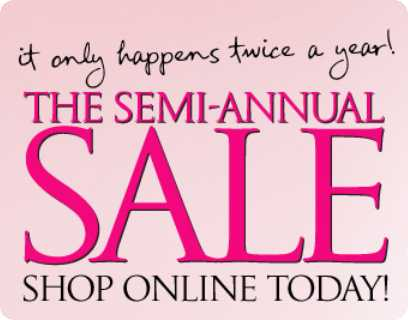 victorias secret semi annual sale
