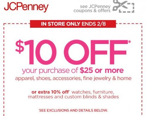 jcpenney coupons 10 off 25 december 2018