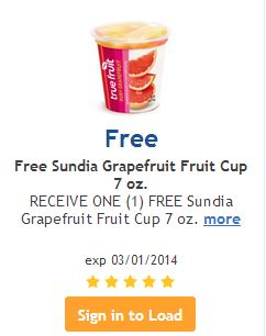 Coupon database full cup