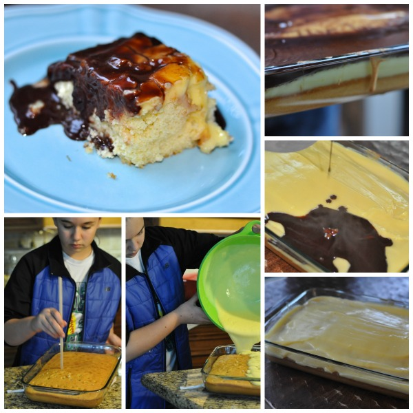 Boston Cream Poke Cake 2
