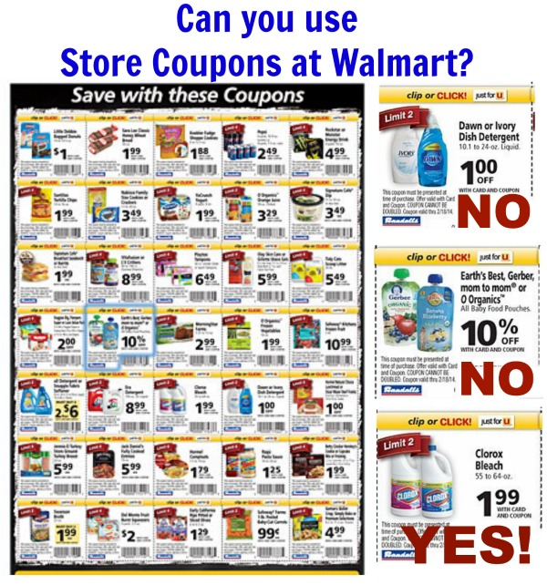 can you use store coupons at walmart