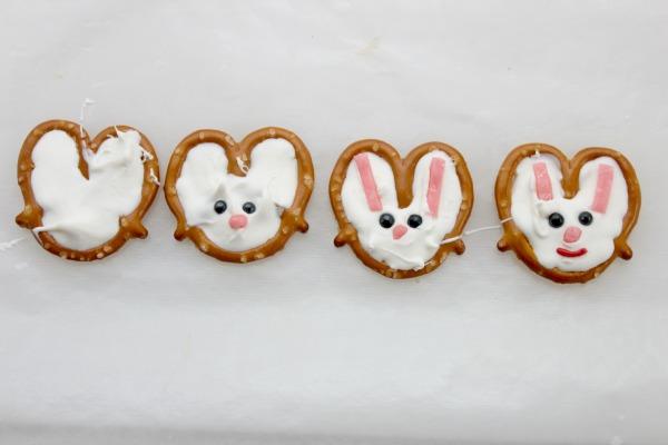 bunnies pretzels