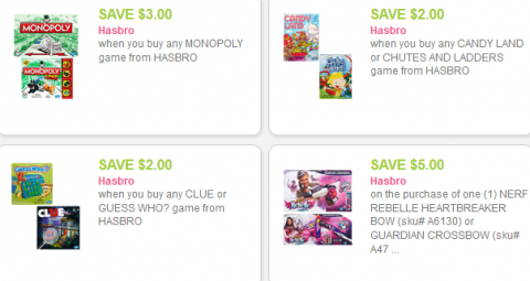 hasbro toy coupons