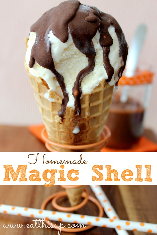 Homemade Magic Shell Recipe! - MyLitter - One Deal At A Time