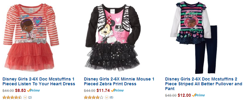 5b1596187 Right now on Amazon you can get Disney Girls Clothing 50% off or more! Get  Doc McStuffins, Minnie Mouse, Tinkerbell, and Disney Princess apparel  outfits for ...