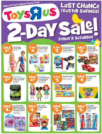Toys R Us liquidation sale kicks off on Friday. The ToysRUs Store Closing sales begin for real now on Friday, March The troubled toy retailer released the details about the liquidation sale in.