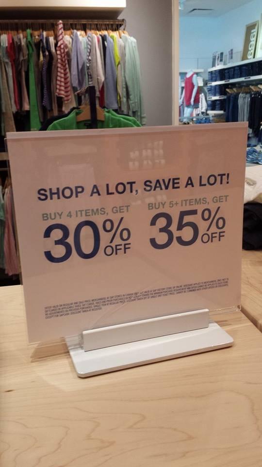 Gap outlet deals today