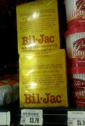 image regarding Bil-jac Coupons Printable titled Kroger: Bil-Jack Frozen Doggy Foods just $1.79! - MyLitter