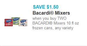 bacardi Mixers coupon
