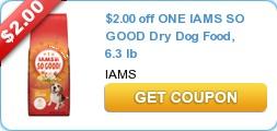 Iams coupons $8