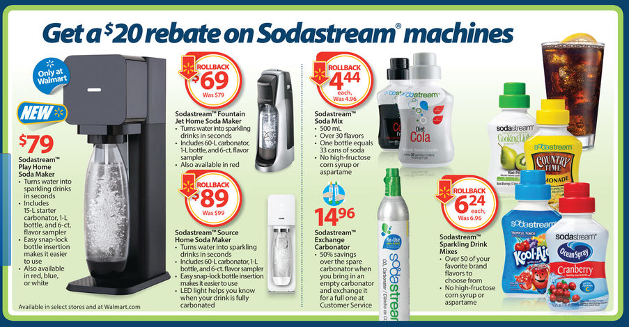 sodastream coupon walmart