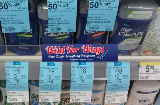 speed stick gear deodorant at walgreens