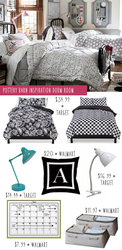 Copy Cat Pottery Barn Dorm Room