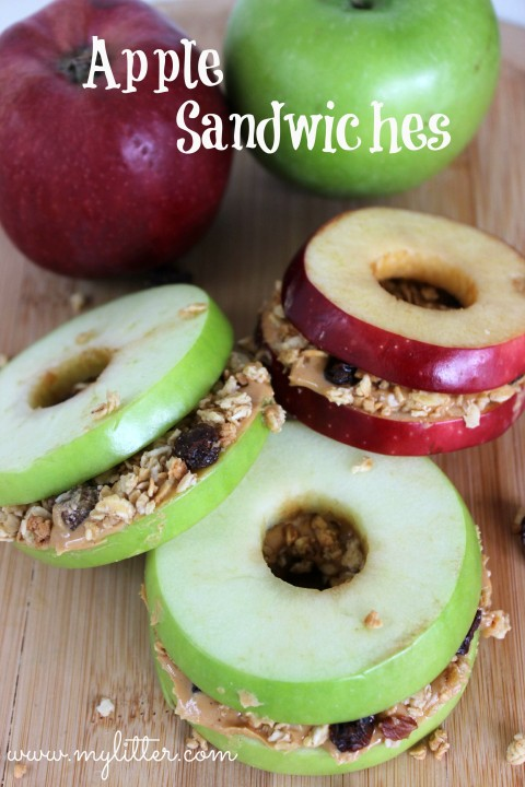 healthy snacks - apple sandwiches