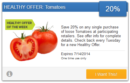 savingstar tomato offer