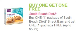 south beach diet bar coupon