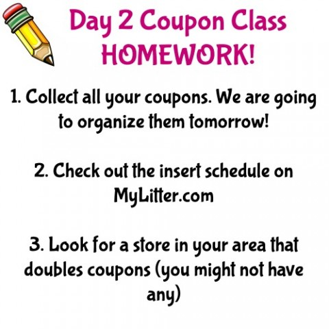 Coupon Class Day 2 Homework