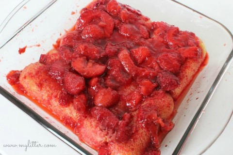 No Bake Desserts - Strawberry Twinkies Dessert Instructions part 2