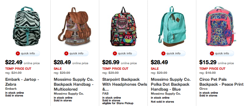 863247fc3b84 Target: Backpacks 25% off + $10 off $50 on kids clothes! - MyLitter ...