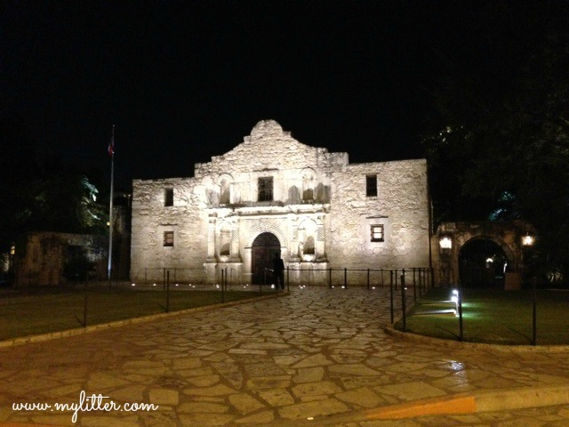 The Alamo night