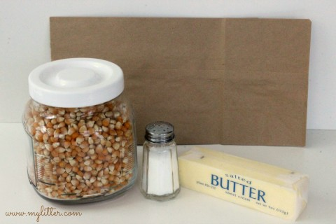 diy microwave popcorn supplies