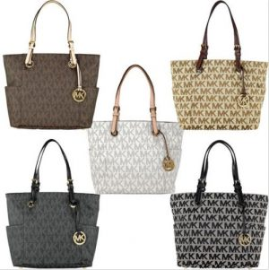 f7867603f94c Michael Kors Jet Set Signature Logo Tote for 39% Off   Free Shipping ...