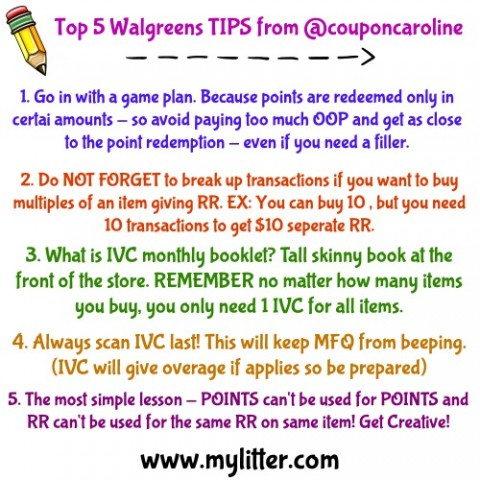 Day 6 Walgreens Tips