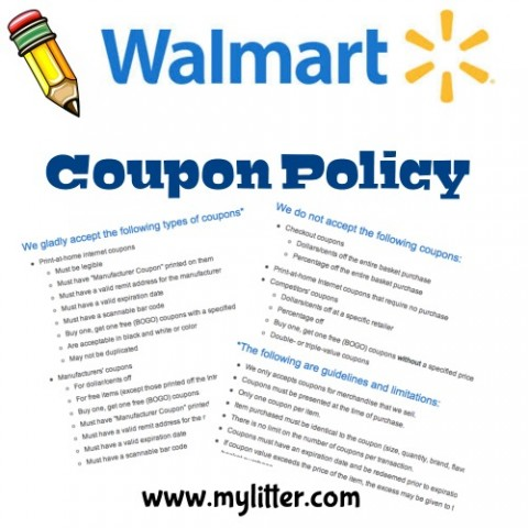 Day 7 Walmart coupon Policy