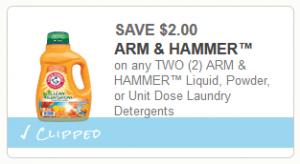 arm & hammer detergent coupon