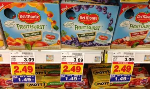 del monte fruit bursts kroger mega event