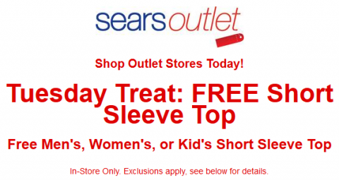 FREE Clothes From Sears Outlet Stores