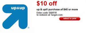 up & up coupon