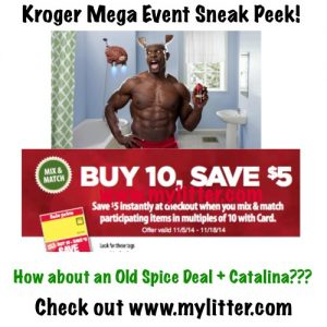 Kroger mega event old spice