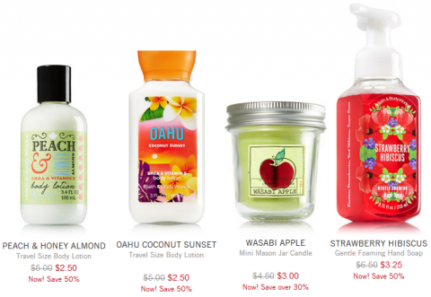 bath and body works offer