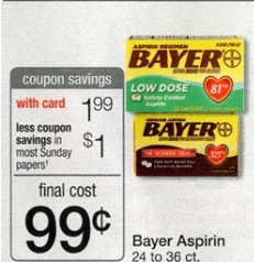 bayer aspirin at walgreens