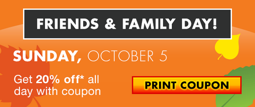 Big Lots is having their Friends & Family event this weekend so they have released a new 20% off printable coupon to be used on Sunday March 6th. Big Lots does not accept manufacturer coupons, so this is your chance to take advantage of extra savings at Big Lots.