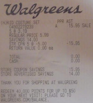 free costumes at walgreens