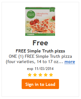 free simple truth pizza