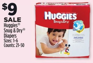 huggies snug & dry dollar general deal