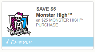 monster high coupon