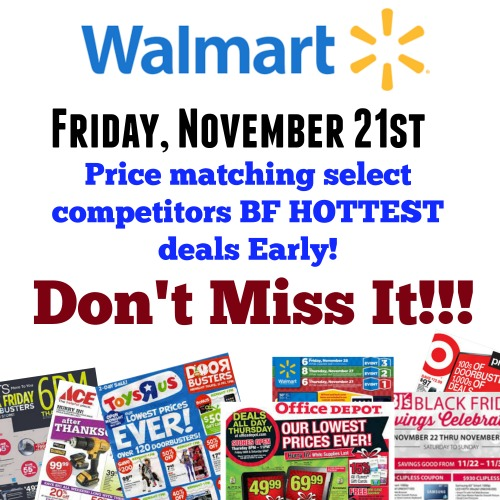 Walmart price matching competitors black friday ads early mylitter